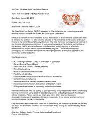 cover letter for summer school teaching position nursing cover letter samples resume genius