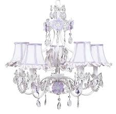lights flower chandelier pink