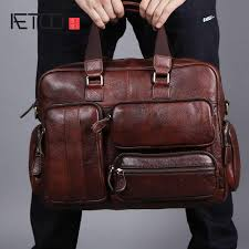 <b>AETOO Original</b> retro multifunctional oil skin briefcase male <b>bag</b> ...