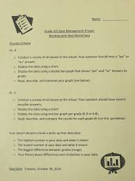 student math projects inform school decision making mrs the class began by working in five groups to design questions around particular topics administer surveys and compile responses into charts