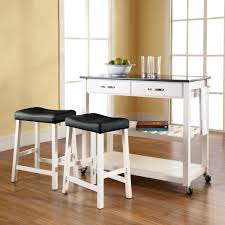 Portable Kitchen Island With Granite Top Portable Kitchen Island With Seating Solid Black Granite Top Cart