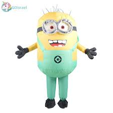 Men Women <b>Inflatable Minion Costume Halloween</b> Party Costumes ...