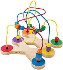 Melissa & Doug Classic <b>Bead Maze</b> - Wooden Educational <b>Toy</b> ...