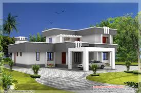 Modern Contemporary House Design Modern Flat Roof House Designs    modern