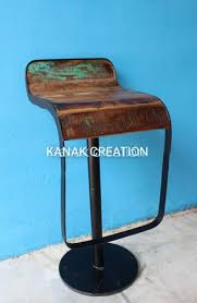 Kanak creation <b>Reclaimed</b> Wood <b>Antique Style</b> Bar <b>Stool</b>, For Indoor ...