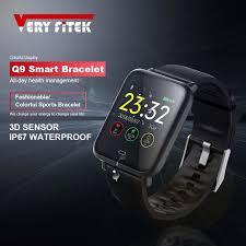 VERYFiTEK <b>Q9</b> Blood Pressure Heart Rate Monitor <b>Smart Watch</b> ...