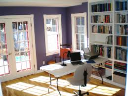 fetching house design ideas baffling of office interior with white study desk and gray chair along black white home office study
