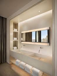 bathroom niches: download elegant bathroom with recessed bathroom lighting fixtures and niches and wall mounted taps under counter open storage