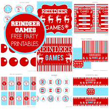 blog posts in the category printables christmas page  reindeer games party printables