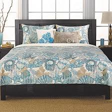 blue beachy bedding set coastal brushed ashore beach house coastal  piece full