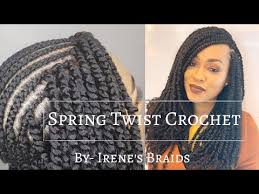 <b>SPRING TWIST CROCHET BRAIDS</b>  @irenesbraids - YouTube