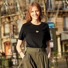 2019 <b>Amii Minimalist</b> Short Sleeve Shirts Women Spring Autumn ...