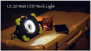 LE <b>20W LED Work Light</b> Rechargeable Camping Lantern - YouTube
