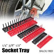 """Mayitr <b>6pcs</b> Black/Red 1/4"""" 3/8"""" 1/2"""" Metric SAE <b>Socket</b> Tray Rack ..."""