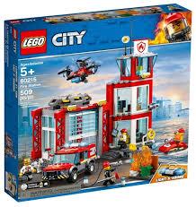 <b>Конструктор LEGO City</b> 60215 Пожарное депо — купить по ...