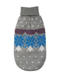 <b>УЮТ свитер для собак</b> серо-голубой с северным орнаментом ...