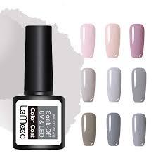 <b>LEMOOC 8ml</b> Glitter Gel 54 <b>Colors</b> Nail Polish Soak Off LED UV Gel ...