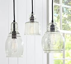 transparant tempered hand blown glass pendant lights high quality premium material white window unique decoration blown glass pendant lighting