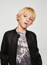 Mango Bomber Jacket Leather Effect - Boys   Kids <b>9-10</b> Years ...