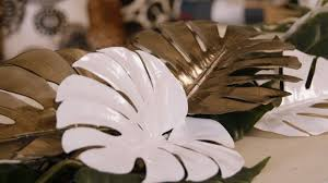 Floristry Tutorial: How to make a simple <b>Monstera Leaf</b> table runner ...