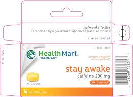 health mart stay awake mckesson caffeine mg tablet full full size image