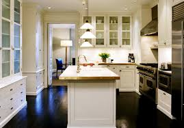 kitchen floors with white cabinets