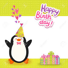 doc 425425 happy birthday cards templates happy birthday card happy birthday card background cute penguin vector holiday happy birthday cards templates