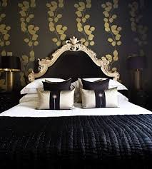 touch luxury black gold bedroom