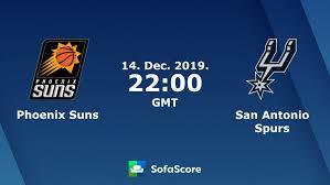 Phoenix Suns San Antonio Spurs live score, video stream and H2H ...