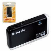 «<b>USB</b>-HUB (<b>разветвитель</b>) <b>Defender</b> Quadro Infix (4 порта), <b>USB</b> ...