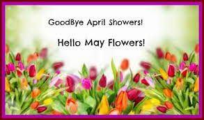 Image result for goodbye april hello may clipart