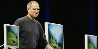 innovation comes from educated hard working immigrants not genius apple computer inc chief executive steve jobs stands several apple flat panel displays