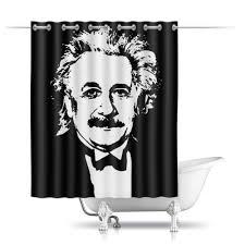 Шторы в ванную <b>Альберт</b> Эйнштейн #2504734 от The Spaceway