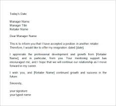 two weeks notice letter   documents in word two weeks notice letter retail