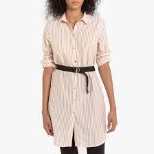 <b>Платье</b>-<b>рубашка</b> в полоску с поясом желтая полоска Vero Moda ...