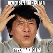 Reverse Triangular Merger? Type a Mergere - Confused Jackie ... via Relatably.com