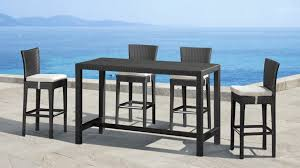 wicker bar height dining table:  large size of  pc bar height outdoor dining set bar height patio dining sets wicker