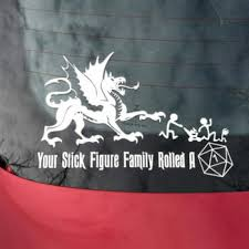 <b>Your Stick Figure Family</b> Rolled A 1 car decal