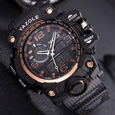 Yazole <b>Men</b> Military <b>Watch 50m</b> Waterproof Wristwatch LED Quartz ...