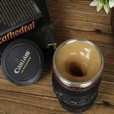 Objektiv-geformte selbst-rührende Kaffeetasse | Gearbest Deutschland