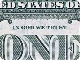 the politics of religion   the religion ezinefor example  the united states motto  quot in god we trust quot   commonly found on american coins  was first used on the great seal of the united states in