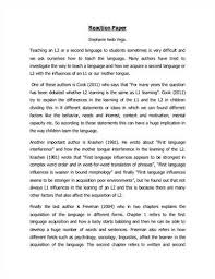tips for writing a good reaction paper a reaction paper reaction paper
