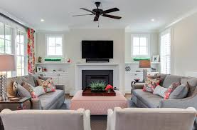built in cabinets around fireplace living room transitional with built ins ceiling fan ceiling built living room