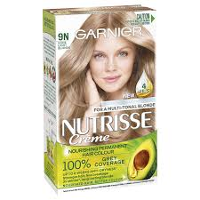 Nutrisse <b>Permanent Hair Colour</b> - <b>9N</b> Nude Light Blonde | Garnier ...