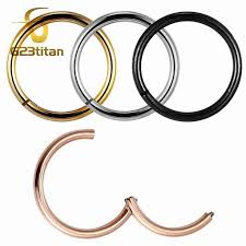 <b>G23titan</b> Rose Gold Color Septum <b>Rings</b> G23 Titanium Open Small ...