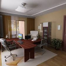 luxury home office with a hardwood desk black leather executive chair yellow walls black leather office design