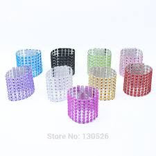 <b>100Pcs Set</b> Plastic Wrap Napkin Ring Buckle Hotel Wedding