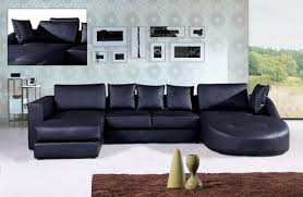 couch bedroom sofa: living room couches in contemporary design with sectional theme made of black leather with silver metal legs and rectangle black pillows