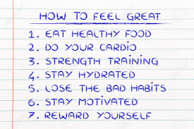 active and healthy lifestyle how to list goals to be fit stock photo active and healthy lifestyle how to list goals to be fit and motivated