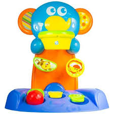 игрушка b kids веселая обезьянка с колечком 004499b